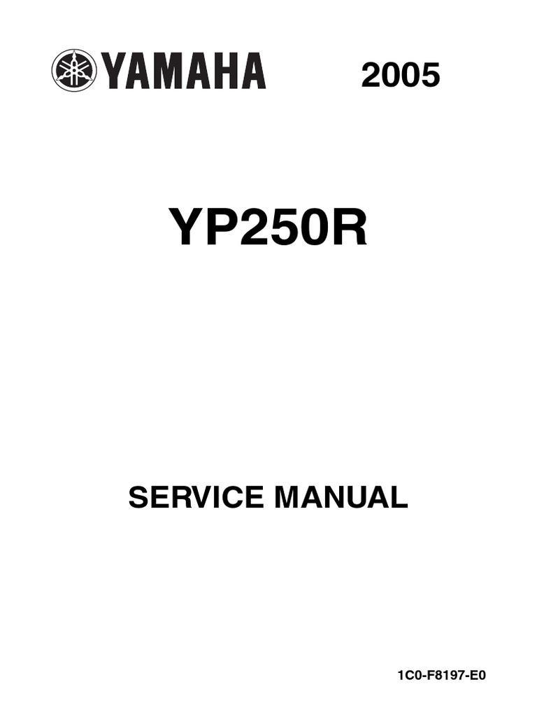 Schema Elettrico X9 250 : Yamaha max service manual en screw ignition system