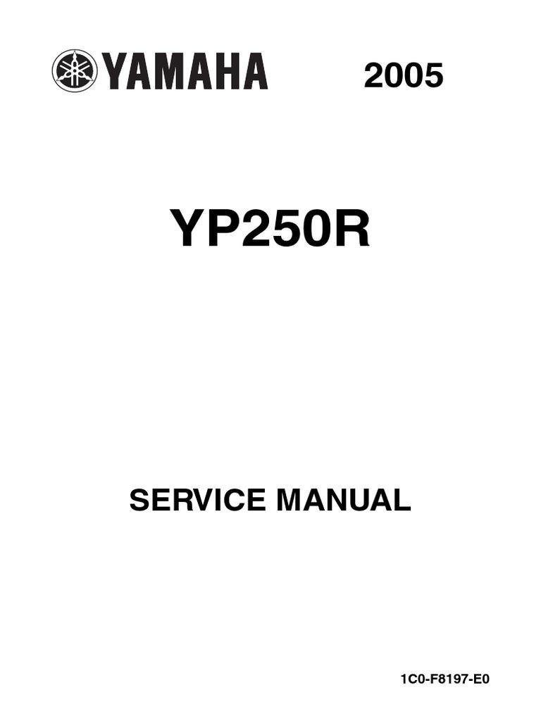 Schema Elettrico Max 250 : Yamaha x max 250 service manual en screw ignition system