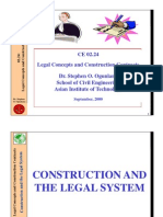 Construction and the Legal System