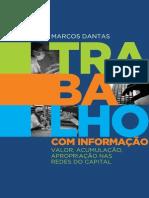 Livro Trabalho Com Informacao Marcos Dantas