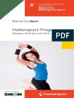 Hallensportprogramm 2013-2014