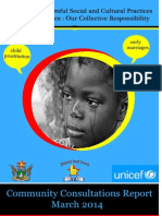 2014 Report on Harmful Cultural Practices Affecting Children in Zimbabwe