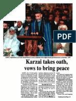 Karzai Oath