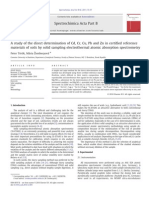 A study of the direct determination of Cd, Cr, Cu, Pb and Zn in certified reference
