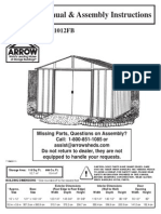 10_12 Arrow Shed Manual