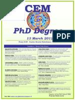 Cem Phd Degree 13 Mar