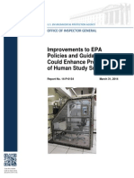 EPA Human Study Subjects