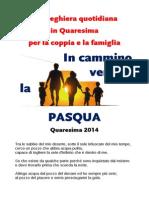 Libretto Preghiera Famiglia Quaresima 2014