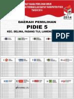 Surat Suara Pemilihan 2014 Kabupaten Pidie 5 Umum (Muhammad s.th.i)