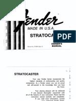 Stratocaster (1980) Manual