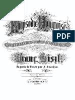 Liszt-Joachim Raspodia Hungara C Sharp Minor