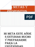 Mis Metas y Propositos