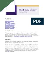 April 2014 CCUSA Parish Social Ministry Newsletter