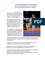 Most Successful National Poomsae & Free Style Championships to Date