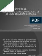 Cursos EFA-NS Metodologias e Planificação