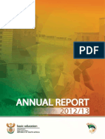 Department of Basic Education Annual Report 20122013 A