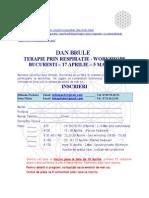 DAN BRULE  - ROMANIA APRILIE 2014 - Formular de Inscriere