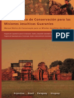 Manual de conservación. Mission Jesuit