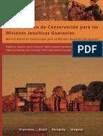 Manual de conservación. Mission Jesuit
