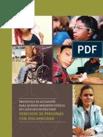 Protocolo de Actuación para quienes imparten Justicia en casos de Personas con Discapacidad