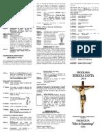 Programa de Semana Santa 2014