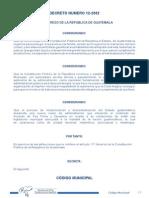 Decreto Número 12-2002 - Código Municipal - SEPAZ abril 2013