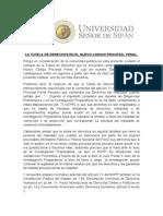 La Tutela de Derechos en El Nuevo Codigo Procesal Penal (1)