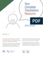 translation services brochure