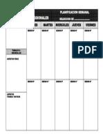 Hoja de Planificacion Semanal