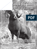 2014 Nevada Big Game Seasons and Application Regulations