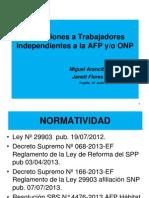 Retención AFP ONP 31.07.2013