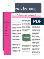 lewis learning news letter 1 1