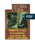 Ricardo de La Cierva Prieto y Los Borradores Secretos de Jose Antonio