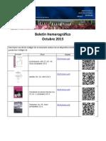 Boletín Hemerográfico Octubre 2013