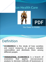 Launching of Health Care Insurance by using economic parameters