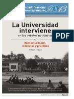 Coraggio - Economía Social, conceptos y prácticas. Suplemento UNGS