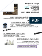 Holy Week at the Shrine of St. Joseph