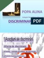 discriminare.