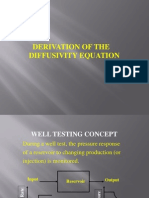 (229765452) Derivation of the Diffusivity Equation1
