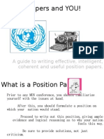 Position Papers and YOU!