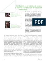 Los modelos de distribución en el trabajo de campo