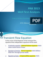 3- Transient Flow Equation and Solutions