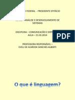linguagem e comunicação dia 21 03 2014