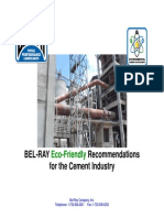 Bel-Ray Eco-Friendly Recommendations- Cement Plants