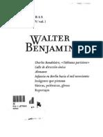 Benjamin, Walter - Obras. Libro IV. Vol. I. Apartado Imágenes que piensan