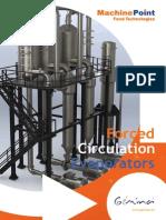 Evaporadores de circulación forzada-Machinepoint Food Technologies