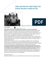 UNHRC Resolution and Electric Chair Bogey Has Not Delivered Desired Election Results for the Regime