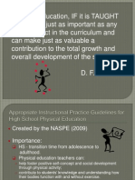 appropriate instructional practices for hs