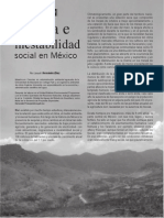 Sequia e inestabilidad social en México