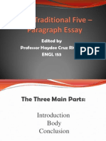 the traditional five - paragraph essay #2